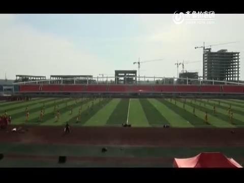 微山湖百人陈氏春秋大刀队展演