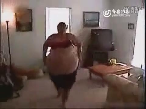 国外超胖美女的健身操