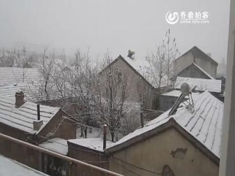 滨州惠民:兵圣故里喜迎四月雪+小冰雹